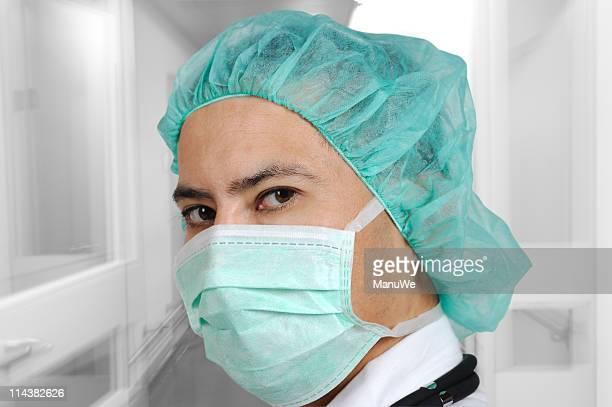 Hospital männliche Masken Arzt Betrieb Zimmer,