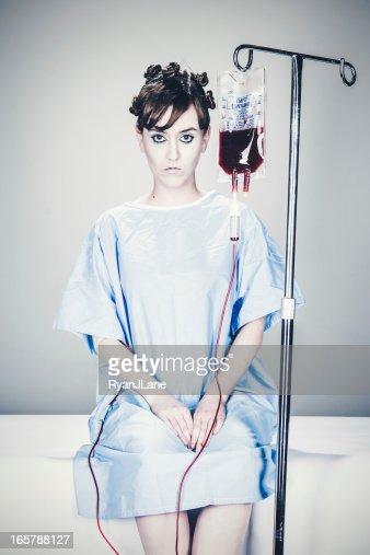 Hospital paciente com Gotejamento Intravenoso