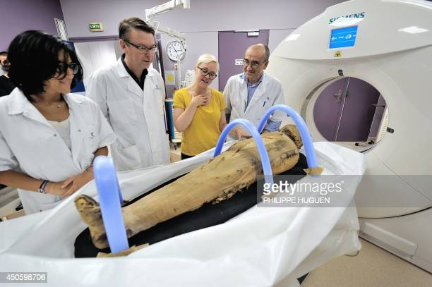 Hospital practioner in radiology Emilie Dodret forensic scientist Valery Edouin director of Lille's natural history museum Judith Pargamin and...