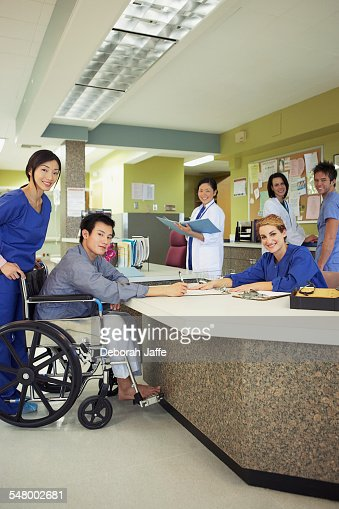 Hospital reception desk : Stock Photo