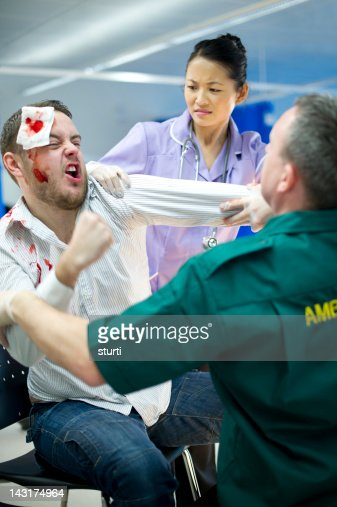 Hospital Violence Stock Photo | Getty Images