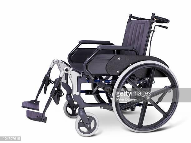 Hospital wheelchair on white background