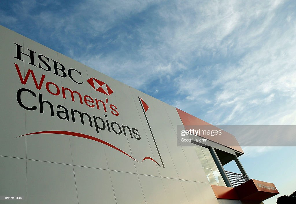 A hospitality structure is seen near the 18th hole during the pro-am prior to the start of the HSBC Women's Champions at the Sentosa Golf Club on February 26, 2013 in Singapore, Singapore.