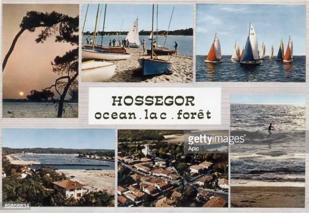 Hossegor postcard c 1965