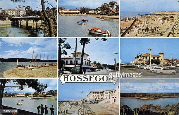Hossegor postcard c 1975