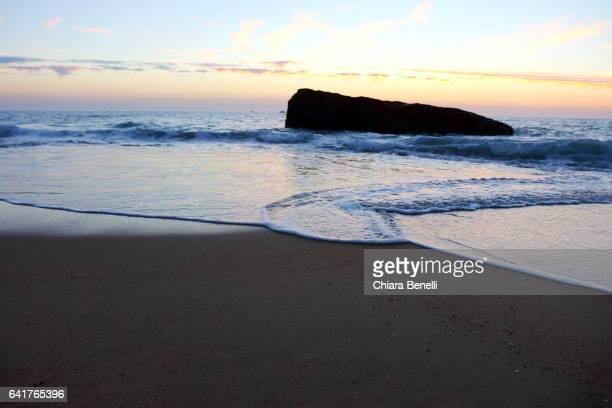 Hossegor_ Atlantic Ocean at sunset_ landes