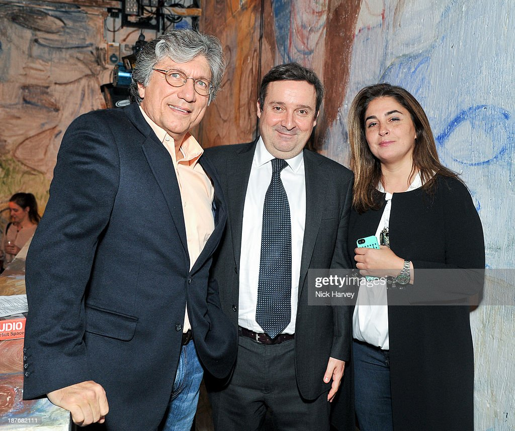 Hossein Amirsadeghi, Gregor Muir and Maryam Eisler attend the book launch of Art Studio America at ICA on November 11, 2013 in London, England.