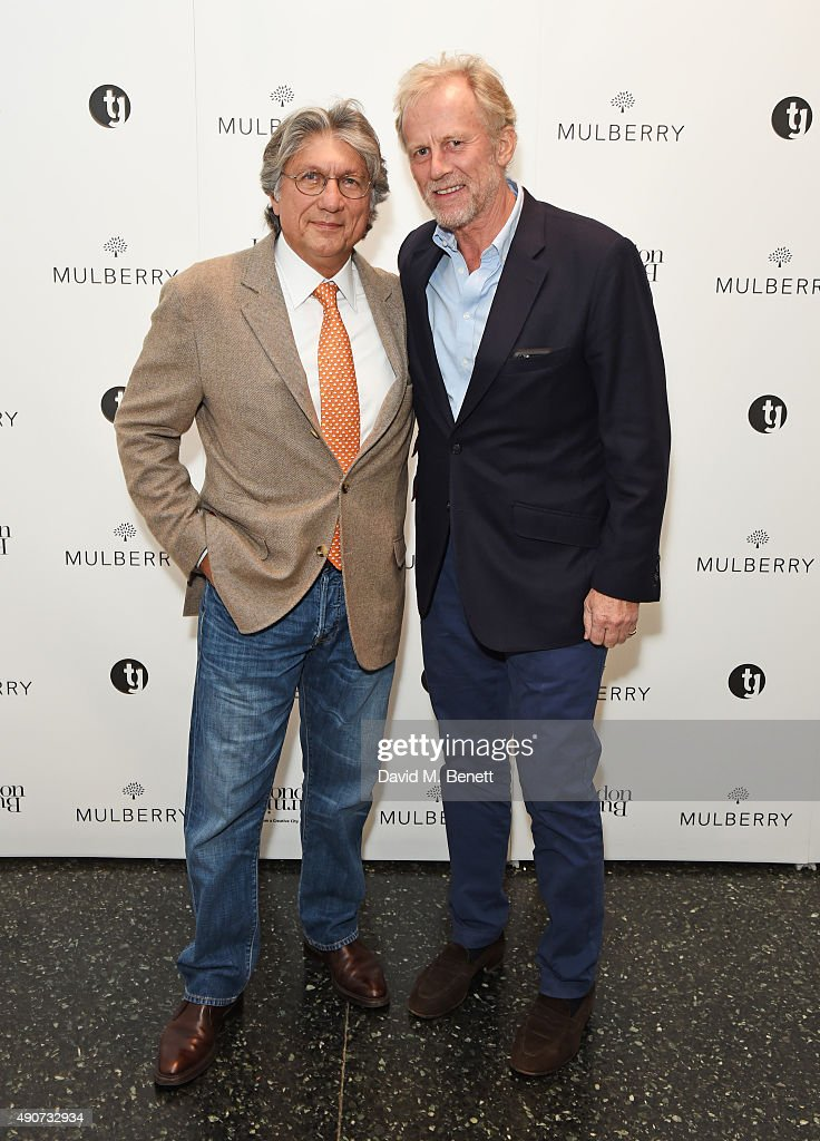 Hossein Amirsadeghi Publisher and editor of London Burning and Richard Hudson attend the London Burning Launch Event at The ICA supported by Mulberry...