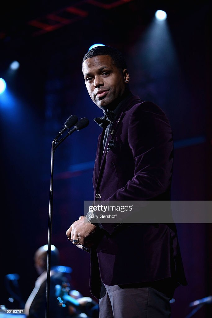 Host A. J. Calloway speaks onstage at the Super Bowl Gospel Celebration 2014 at The Theater at Madison Square Garden on January 31, 2014 in New York City.