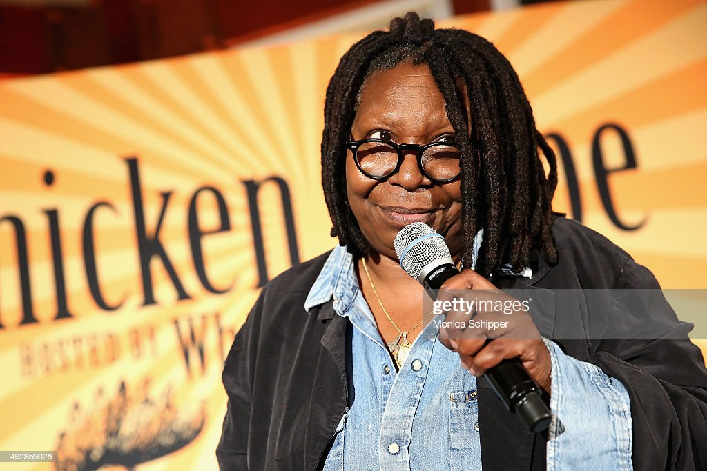 Host actress Whoopi Goldberg speaks at Chicken Coupe during Food Network Cooking Channel New York City Wine Food Festival presented by FOOD WINE at...