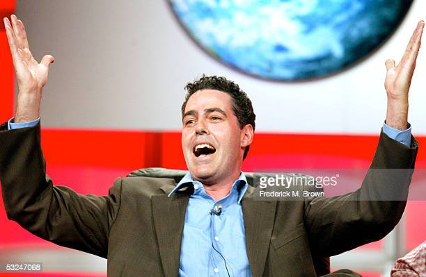 Host Adam Carolla attends the panel discussion for 'The Adam Carolla Project' during the Discovery Networks' TLC presentation at the 2005 Television...