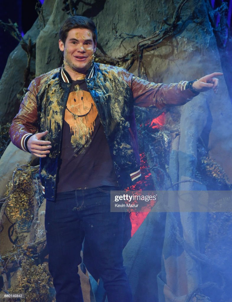 Host Adam DeVine speaks onstage during the 2017 MTV Movie And TV Awards at The Shrine Auditorium on May 7, 2017 in Los Angeles, California.
