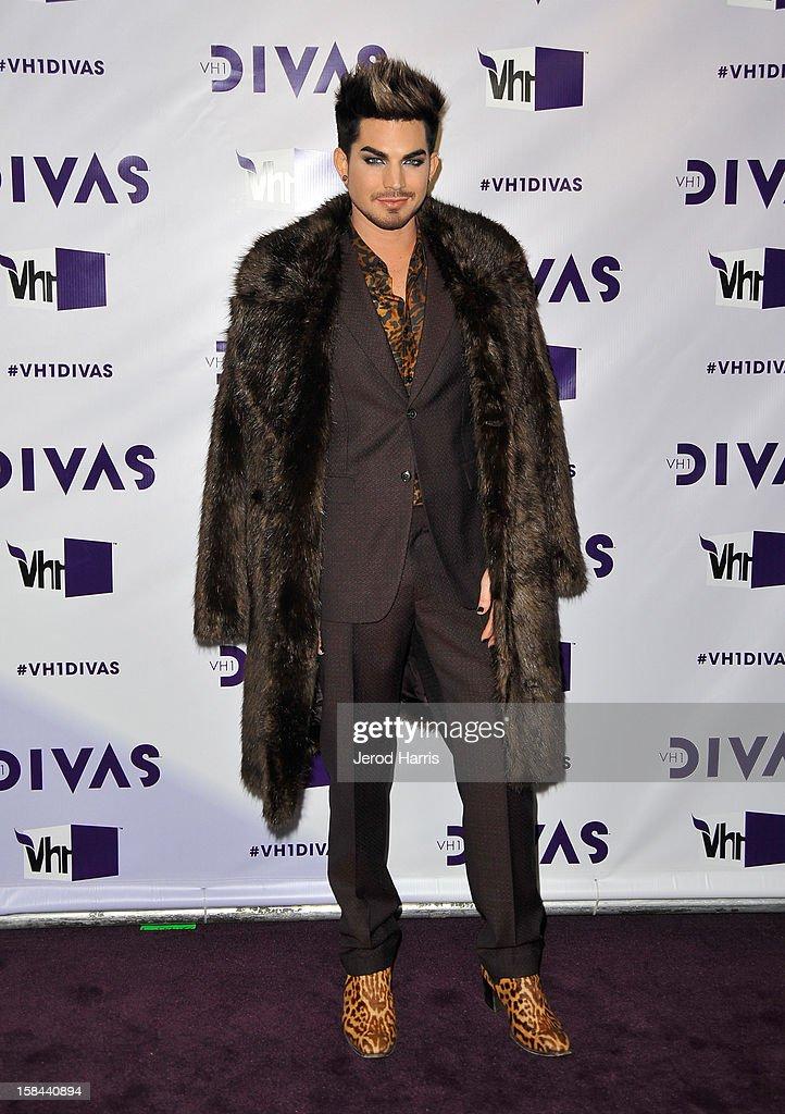 Host Adam Lambert arrives at 'VH1 Divas' 2012 held at The Shrine Auditorium on December 16, 2012 in Los Angeles, California.