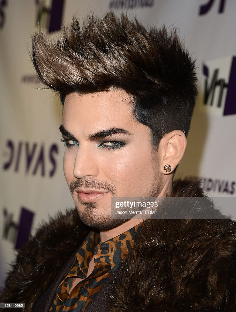 Host Adam Lambert arrives at 'VH1 Divas' 2012 held at The Shrine Auditorium on December 16, 2012 in Los Angeles, California.