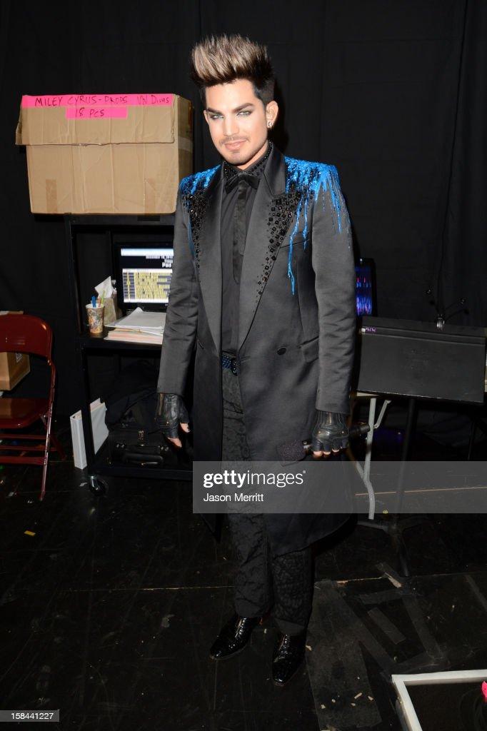 Host Adam Lambert attends 'VH1 Divas' 2012 held at The Shrine Auditorium on December 16, 2012 in Los Angeles, California.