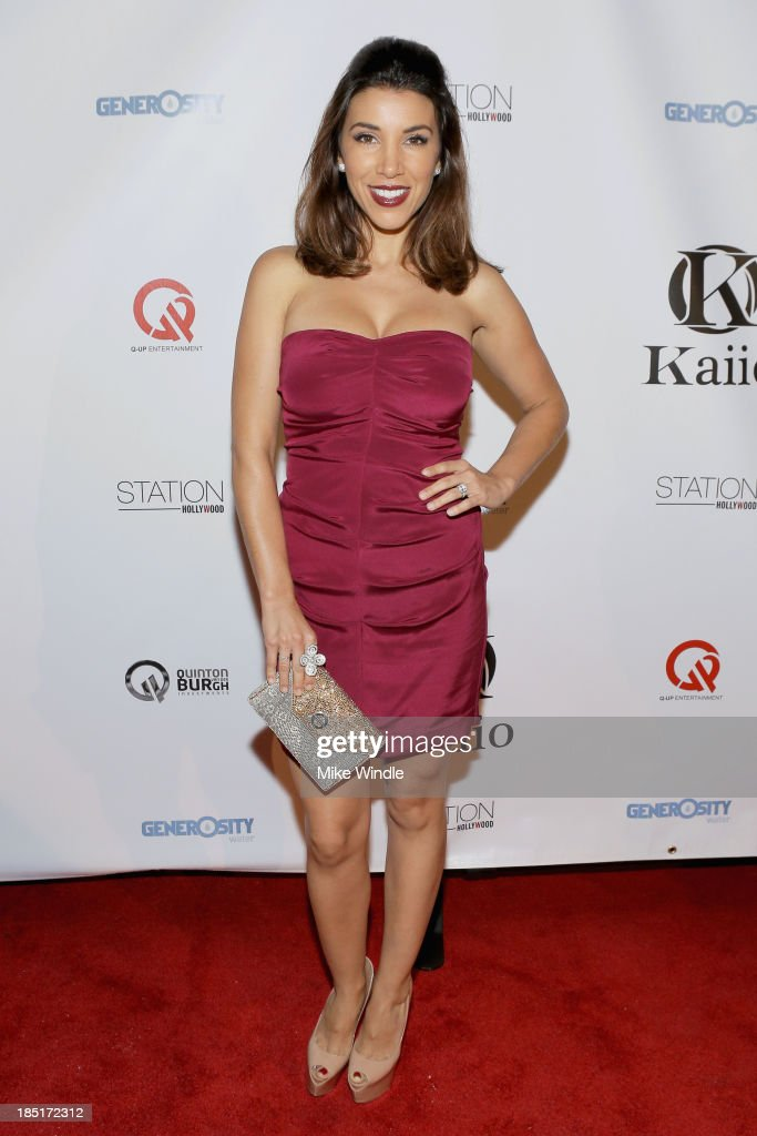 TV host <a gi-track='captionPersonalityLinkClicked' href=/galleries/search?phrase=Adrianna+Costa&family=editorial&specificpeople=2556170 ng-click='$event.stopPropagation()'>Adrianna Costa</a> attends the Kaiio's launch event at Station Hollywood at W Hollywood Hotel on October 17, 2013 in Hollywood, California.