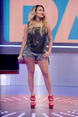 Host Adrienne Bailon at BET's '106 Park' at BET Studios on June 5 2013 in New York City