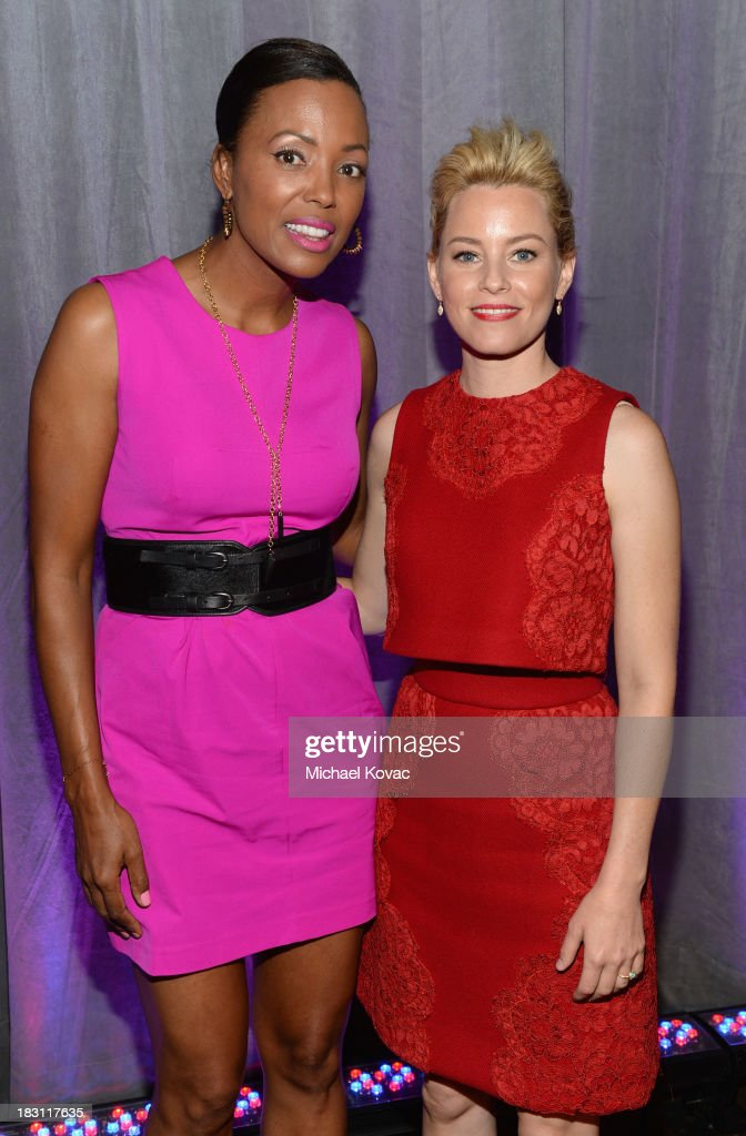 Host <a gi-track='captionPersonalityLinkClicked' href=/galleries/search?phrase=Aisha+Tyler&family=editorial&specificpeople=202262 ng-click='$event.stopPropagation()'>Aisha Tyler</a> and honoree <a gi-track='captionPersonalityLinkClicked' href=/galleries/search?phrase=Elizabeth+Banks&family=editorial&specificpeople=202475 ng-click='$event.stopPropagation()'>Elizabeth Banks</a> attend Variety's 5th Annual Power of Women event presented by Lifetime at the Beverly Wilshire Four Seasons Hotel on October 4, 2013 in Beverly Hills, California.