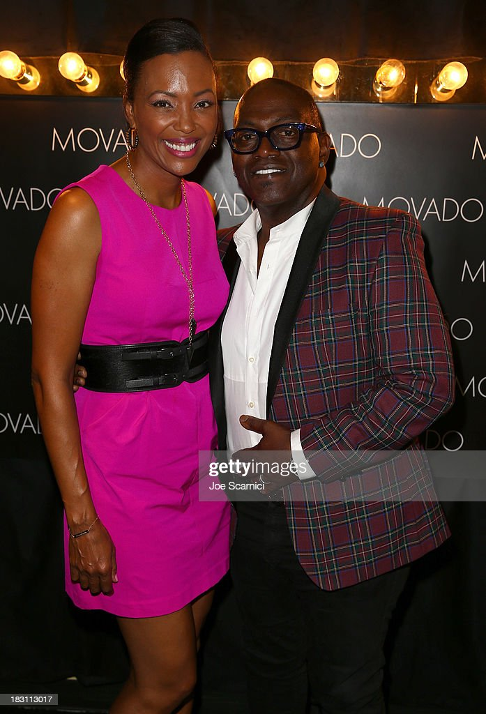 Host <a gi-track='captionPersonalityLinkClicked' href=/galleries/search?phrase=Aisha+Tyler&family=editorial&specificpeople=202262 ng-click='$event.stopPropagation()'>Aisha Tyler</a> and TV personality Randy Jackson attend Variety's 5th Annual Power of Women event presented by Lifetime at the Beverly Wilshire Four Seasons Hotel on October 4, 2013 in Beverly Hills, California.