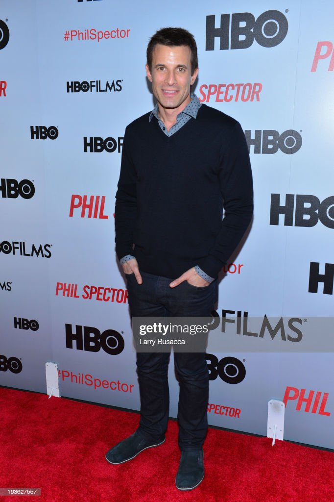 TV host AJ Hammer attends the 'Phil Spector' premiere at the Time Warner Center on March 13, 2013 in New York City.