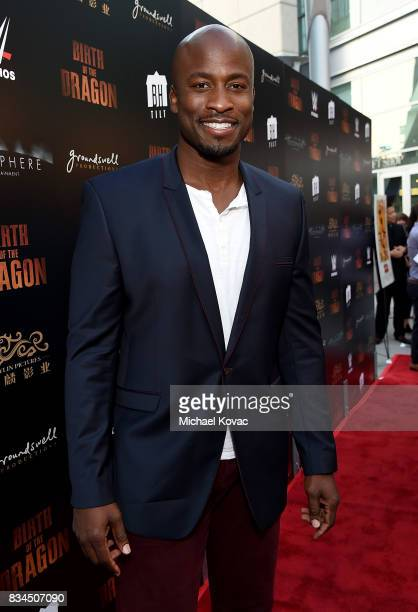 TV host Akbar Gbajabiamila attends the Los Angeles special screening of Birth of the Dragon at ArcLight Cinemas on August 17 2017 in Hollywood...