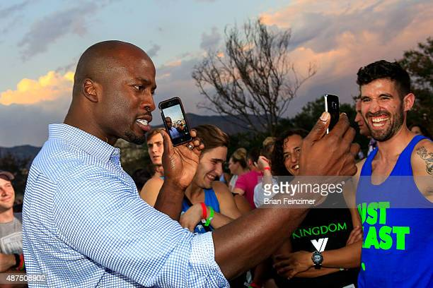 Host Akbar Gbajabiamila attends the NBC's 'American Ninja Warrior' season 7 finale preview screening held at The Autry National Center on September 9...