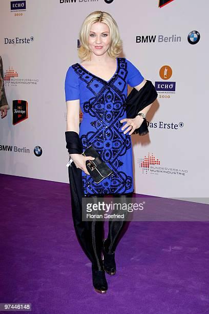 TV host Aleksandra Bechtel arrives at the Echo Award 2010 at Messe Berlin on March 4 2010 in Berlin Germany