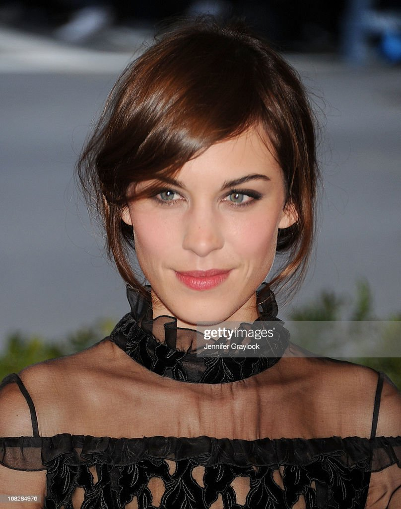TV Host Alexa Chung attends the Costume Institute Gala for the 'PUNK: Chaos to Couture' exhibition at the Metropolitan Museum of Art on May 6, 2013 in New York City.