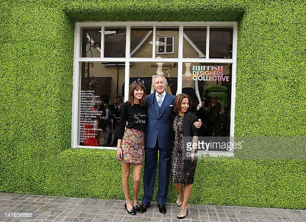 Host Alexa Chung Chairman of the British Fashion Council Harold Tillman and Chief Executive of Value Retail Management Ltd Desiree Bollier attend the...