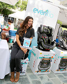 Host Ali Landry attends Favordby's 3rd annual Red CARpet Safety Awareness Event presented by Evenflo at Skirball Cultural Center on September 28 2014...