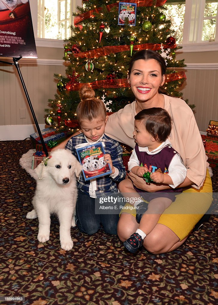 Host <a gi-track='captionPersonalityLinkClicked' href=/galleries/search?phrase=Ali+Landry&family=editorial&specificpeople=543155 ng-click='$event.stopPropagation()'>Ali Landry</a> with her daughter Estela and son Marcelo attend the 'Santa Paws 2: The Santa Pups' holiday party hosted by Disney, Cheryl Ladd, and <a gi-track='captionPersonalityLinkClicked' href=/galleries/search?phrase=Ali+Landry&family=editorial&specificpeople=543155 ng-click='$event.stopPropagation()'>Ali Landry</a> at The Victorian on November 10, 2012 in Santa Monica, California.