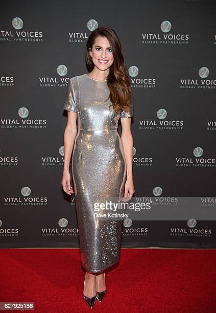 Host Allison Williams arrives at the Voices of Solidarity 2016 at IAC HQ on December 5 2016 in New York City