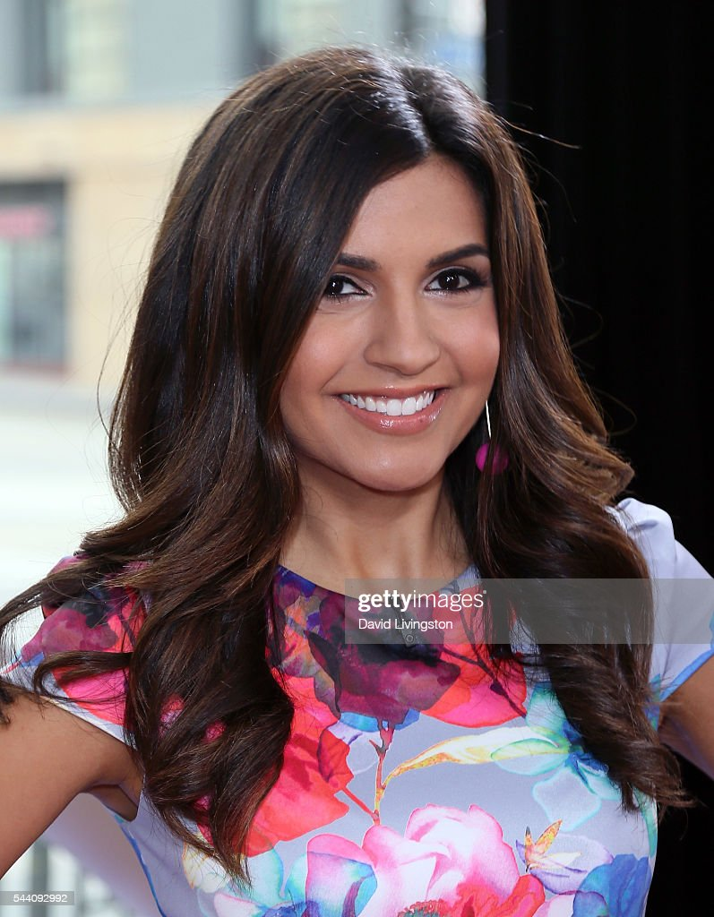 Host Amanda Salas poses at Hollywood Today Live at W Hollywood on July 1, 2016 in Hollywood, California.