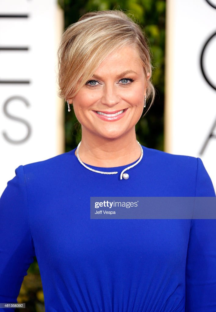 Host Amy Poehler attends the 72nd Annual Golden Globe Awards at The Beverly Hilton Hotel on January 11 2015 in Beverly Hills California