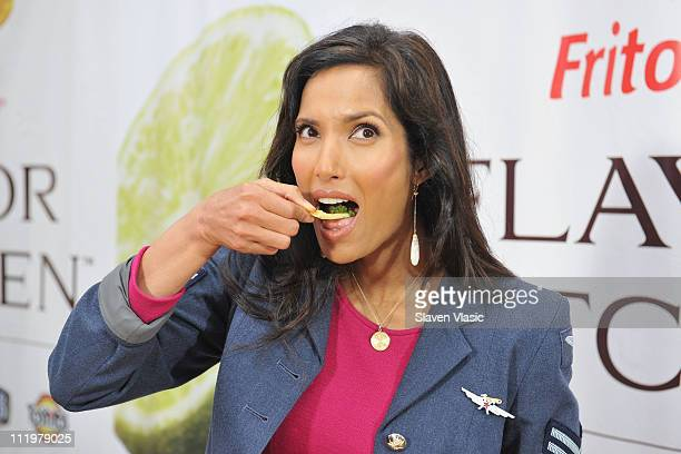 TV host and actress Padma Lakshmi visits the FritoLay Flavor Kitchen to discuss and demo the popular flavorful foods that inspired FritoLay's line of...