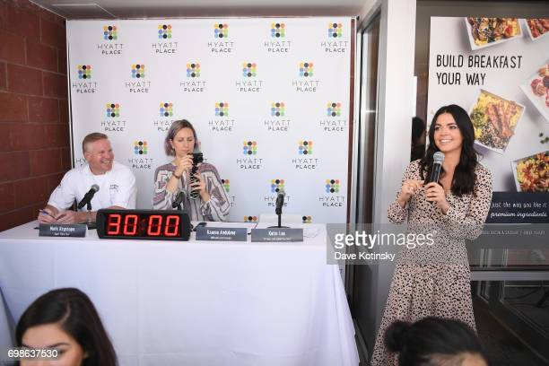 Host and Celebrity Chef Katie Lee launches the new Hyatt Place Build Your Own Breakfast Bowls and Greek Yogurt Parfaits with fellow judges Hyatt...