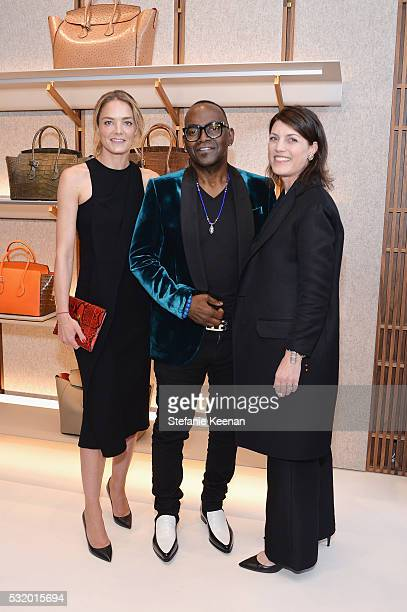 Host and CoFounder of Delete Blood Cancer DKMS Katharina Harf host and record producer Randy Jackson and host and CEO of Bally Americas Claudia...
