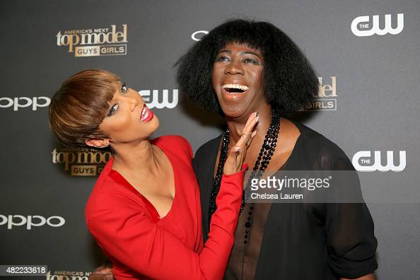 Host and Creator Tyra Banks and ANTM Judge J Alexander attend the 'America's Next Top Model' Cycle 22 Premiere Party presented by OPPO and NYLON on...