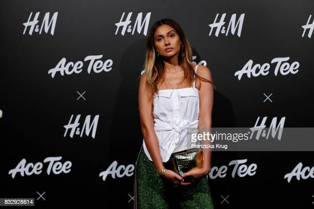Host and DJane Wana Limar attends the HM Ace Tee showcase on August 16 2017 in Berlin Germany