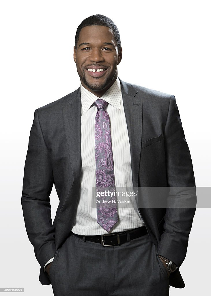 TV host and former football player, <a gi-track='captionPersonalityLinkClicked' href=/galleries/search?phrase=Michael+Strahan&family=editorial&specificpeople=210563 ng-click='$event.stopPropagation()'>Michael Strahan</a> is photographed for Variety on April 29, 2014 in New York City.