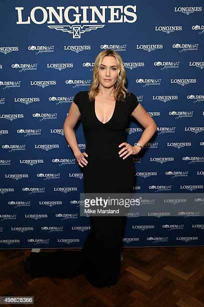 Host and Longines Ambassador of Elegance Kate Winslet attends the Longines Dinner in honour of her charity the Golden Hat Foundation on November 24...
