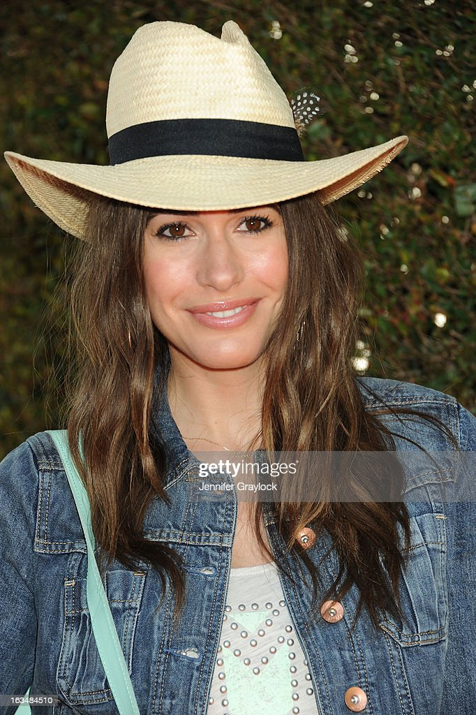 Host and Model Louise Roe attends the John Varvatos 10th Annual Stuart House Benefit held at John Varvatos Los Angeles store on March 10 2013 in Los...