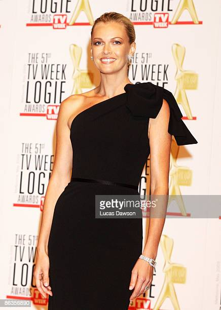 TV host and model Sarah Murdoch arrives for the 51st TV Week Logie Awards at the Crown Towers Hotel and Casino on May 3 2009 in Melbourne Australia