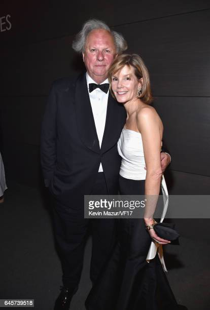 Host and Vanity Fair Editor Graydon Carter and Anna Scott attends the 2017 Vanity Fair Oscar Party hosted by Graydon Carter at Wallis Annenberg...