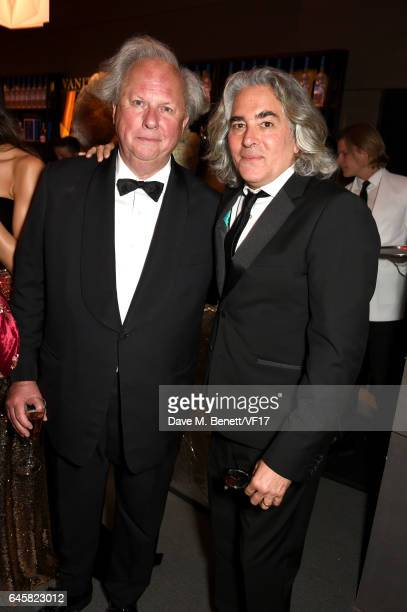 Host and Vanity Fair Editor Graydon Carter and producer Mitch Glazer attend the 2017 Vanity Fair Oscar Party hosted by Graydon Carter at Wallis...