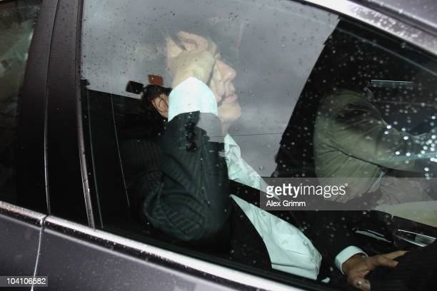 TV host and weather expert Joerg Kachelmann and his lawyer Andrea Combe arrive on day three of his trial at the district court Mannheim on September...