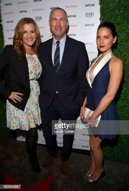 Host and West Coast Editor of Vanity Fair Krista Smith wearing Juicy Couture Publisher of Vanity Fair Edward Menicheschi and Olivia Munn wearing...