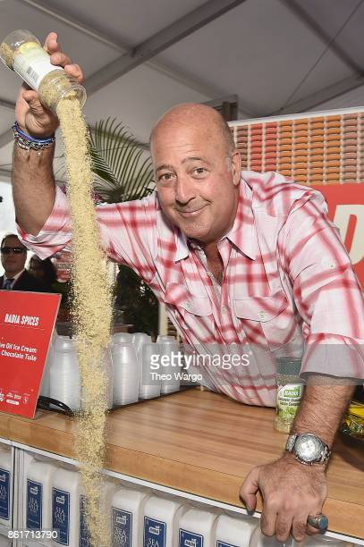 Host Andrew Zimmern attends the Food Network Cooking Channel New York City Wine Food Festival Presented By CocaCola CocaCola Backyard BBQ presented...