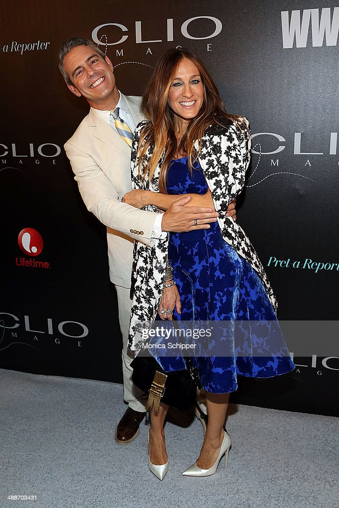 TV host Andy Cohen (L) and actress/designer <a gi-track='captionPersonalityLinkClicked' href=/galleries/search?phrase=Sarah+Jessica+Parker&family=editorial&specificpeople=201693 ng-click='$event.stopPropagation()'>Sarah Jessica Parker</a> attend the 2014 CLIO Image Awards at The Pierre Hotel on May 7, 2014 in New York City.