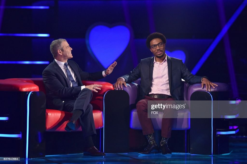 Host Andy Cohen and Single Evan Jones in LOVE CONNECTION airing Thursday, July 27 (9:00-10:00 PM ET/PT) on FOX.
